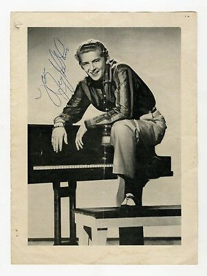 Jerry Lee Lewis Signed Concert Programme Page 1960s