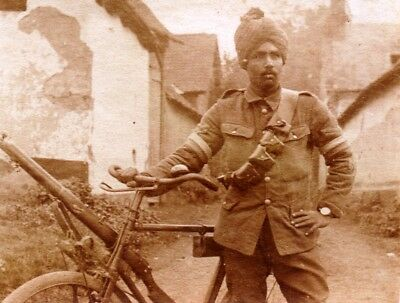 Photo -  Soldat Cycliste HINDOU - Indu - Indian Army Guerre 1914 1918