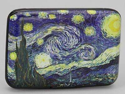 Van Gogh Starry Night RFID Data Theft Protection Credit Card Armored Wallet