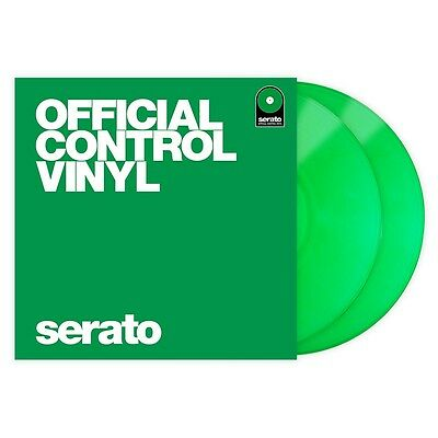 "Serato Performance Series Coppia Pair Green 12"" Control Vinyls Vinili"