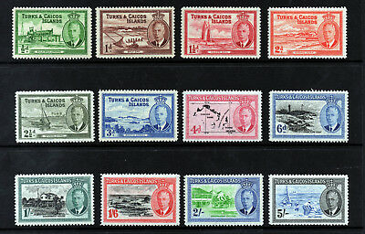 TURKS & CAICOS ISLANDS KG VI 1950-54 Pictorial Part  Set SG 221 to SG 232 MINT