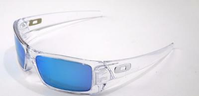 New Oakley Sunglasses Gascan Polished Clear w/Sapphire #9014-1760 New In Box