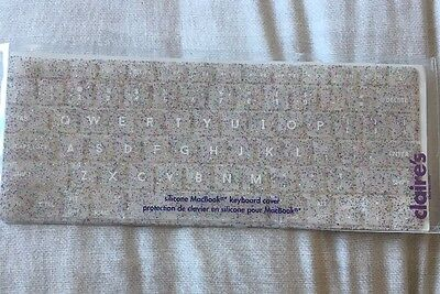 Glittery MacBook Silicone Keyboard Cover From Claire's