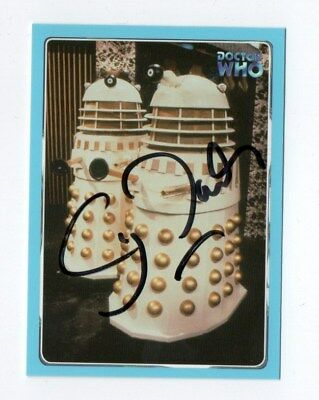 DR WHO  STRICTLY INK CARD NUMBER 104 SIGNED by CY TOWN [DALEKS]
