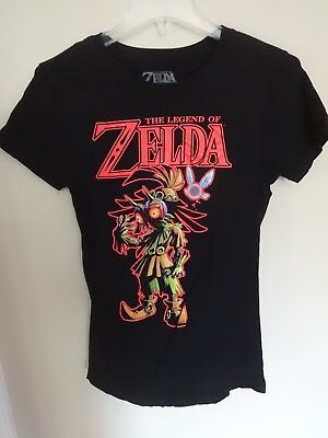 EUC - Legend Of Zelda - Majora's Mask 3D - Graphic Printed T-Shirt Ladies Large