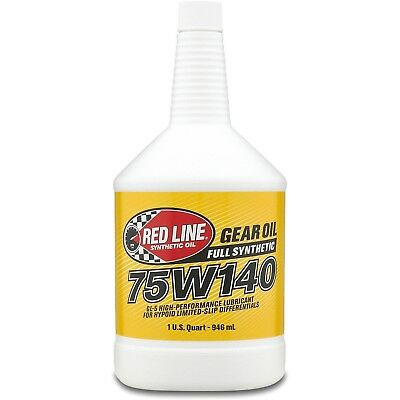Red Line 57914 Lightweight Gear Oil 75W140 1 Quart, (Pack of 6)