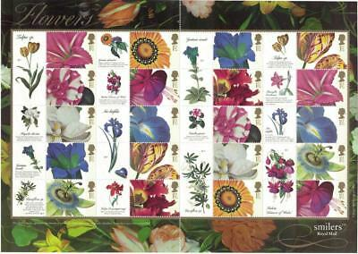 GREAT BRITAIN 2003 Smilers - Flowers sheet of 2 sets MNH / B23498