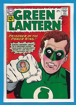 """Green Lantern #10_January 1962_Fine+_""""prisoner Of The Power Ring""""_Silver Age Dc!"""