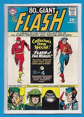 "80 Pg GIANT_THE FLASH #9_APR 1965_VERY GOOD_""FLASH OF TWO WORLDS""_GORILLA GRODD!"