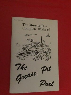 "x. 1968 ""The Early Ford V-8 Club Of America"" ""The Grease Pit Poet"" Book Booklet"