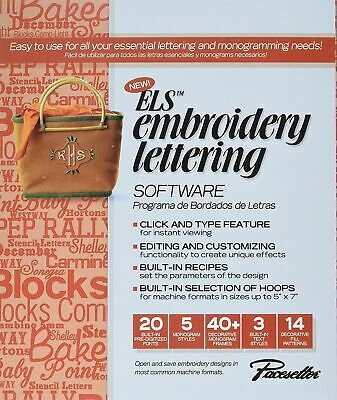 Brother ELS Embroidery Lettering and Monogram Software New