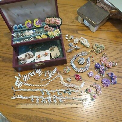 Vintage Shell Jewelry and Hair Combs LOT