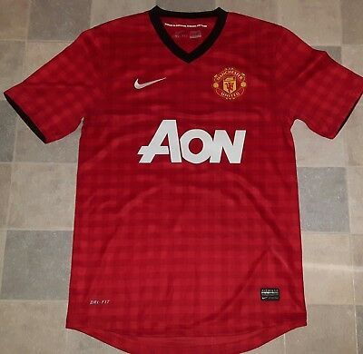 Manchester United 2012/13 Home Football Shirt Small