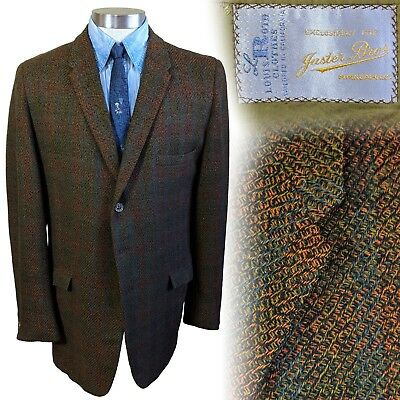 Vintage Roth Clothes 1960s sportcoat suit jacket 44 Extra Long