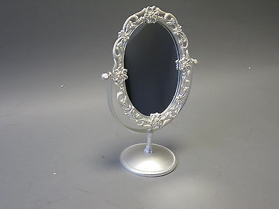 METAL WITH STRASS Mirror Make-Up Mirror Standing Mirror 27cm