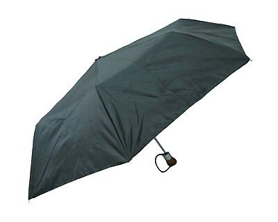 Raines by Totes Automatic Open Black Large Coverage Umbrella w/ Wood Handle