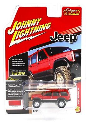 Johnny Lightning *RED* JEEP CHEROKEE 4x4 *2018 mc2-toys EXCLUSIVE* 1 of 2016