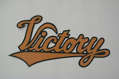 """Victory Motorcycle 13""""synthetic leather back patch gold/black. NEW.UNIQUE"""