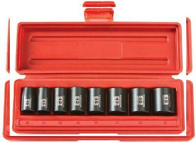 TEKTON 3/8-Inch Drive Shallow Impact Socket Set, Metric, Cr-V, 6-Point, 10...