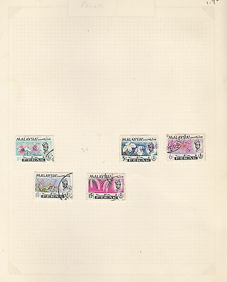 MALAYA on album page stamps removed for shipping (b)