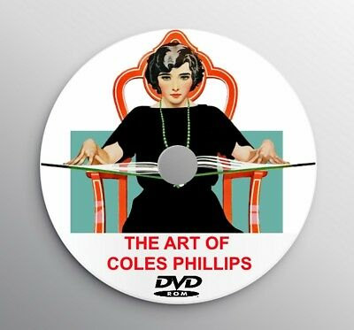 COLES PHILLIPS ART DECO Style Advertising Design Women Pin Up Collection in DVD
