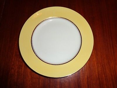Palissy Art Deco Style Small Side Plate Yellow White Gold Trim Circa 1940's #1