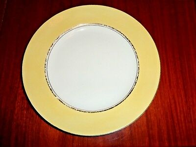 Palissy Art Deco Style Side Plate Yellow White Gold Trim Circa 1940's #1