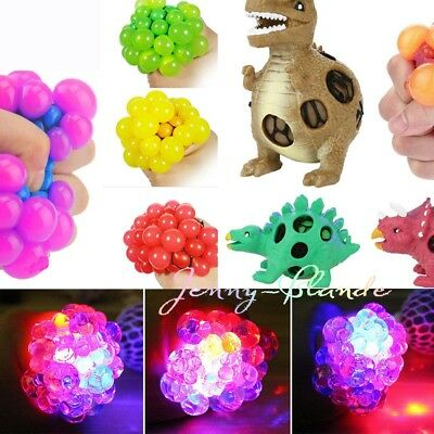 Stress Relief Mesh Squish Ball Grape Fidget Squeeze Toy Kid Special Needs Autism