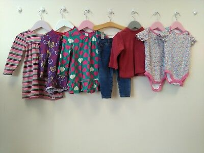 Baby Girls Bundle Of Clothes Age 9-12 Months Mothercare Mini Club Za <B2883