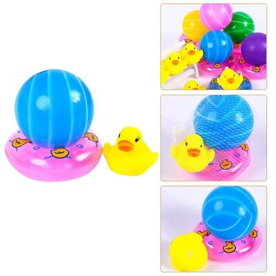 Water Floating Squeaky Yellow Rubber Ducks Tube Bath Mini Swimming Ring New
