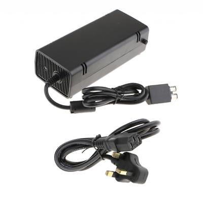 135W AC Charger Power Supply Cord Black For Xbox 360 Adapter Slim Brick UK
