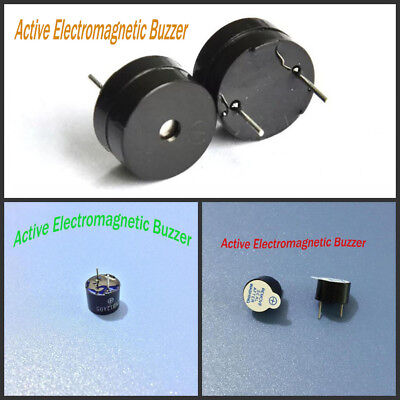 6.5~9.5mm Height Integrated Active Electromagnetic Buzzer DC 5V 12mm Diameter