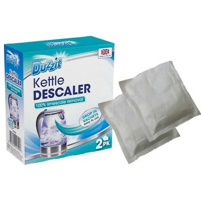 Kettle Descaler Limescale Build Up Removal Descaling 2 Pack Drop In Sachets NEW
