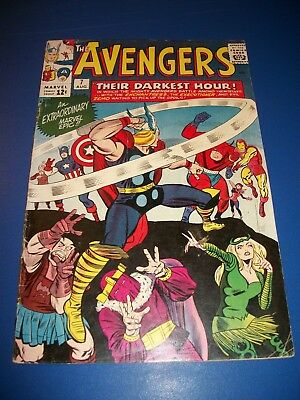 Avengers #7 Silver Age Thor Cover Key Issue Missing Ad Page