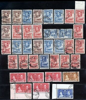 Bechuanaland Early Kgv- Kgvi Issues Fine Used Lot.      A643