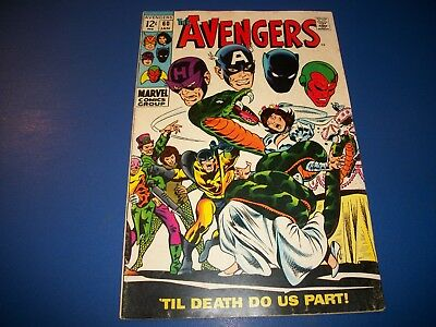 Avengers #60 Silver Age Wedding of Jan and Hank VG/F Vision