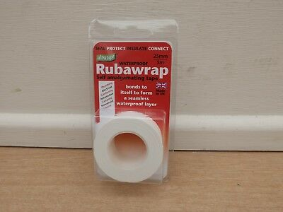 Ultratape Waterproof Rubawrap Self Amalgamating Tape 5M X 25Mm White