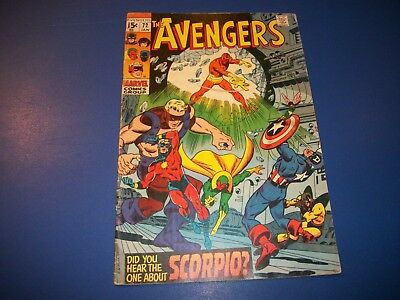Avengers #72 Bronze Age Vision Wow