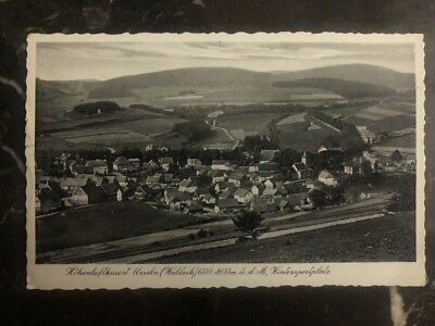 1938 Germany RPPC Postcard Cover To Sterling IL USA Waldeck City View