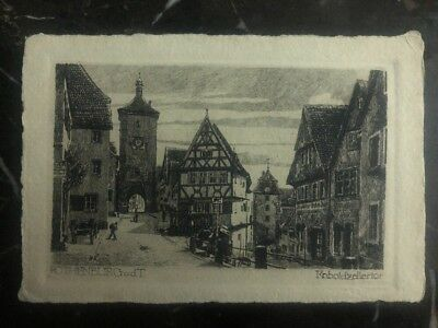 1922 Germany Postcard Cover Rothenburg View To Winnipeg Canada