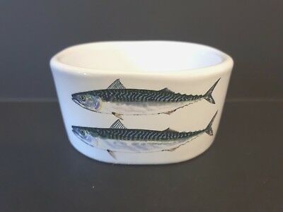 Jersey Pottery Richard Bramble Mackerel Fish Bowl Dish