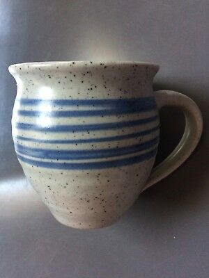 Made in Cley Norfolk studio pottery mug 11cmH VGC