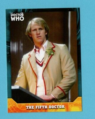 Doctor Who Signature Series Base Card 05 The Fifth Doctor