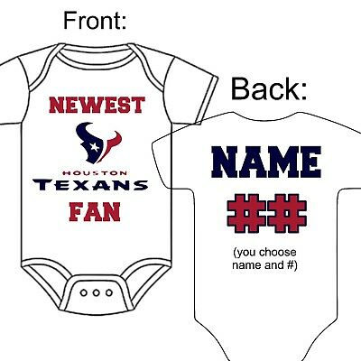 a40a7bbf Personalized Houston Texans Football Fan Baby Gerber Onesie Optional Socks  Gift