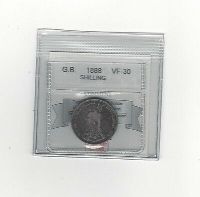 **1888**Great Britain, Shilling, Coin Mart  Graded**VF-30**