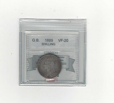 **1889**Great Britain, Shilling, Coin Mart  Graded**VF-20**