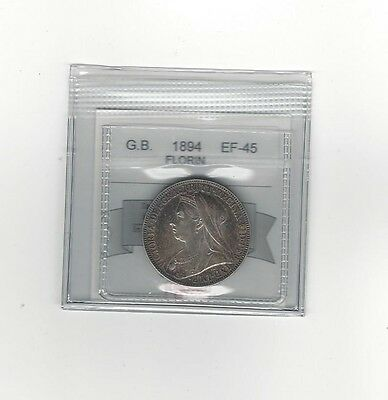 **1894**Great Britain, Florin, Coin Mart  Graded**EF-45**
