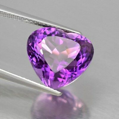 Dazzling! 7.97ct 13x12mm Heart Natural Unheated Rich Purple Amethyst