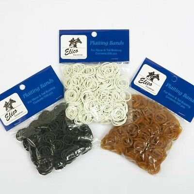 Elico Plaiting Bands In Brown 500 Pack