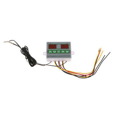 220V Dual Digital Temperature Controller Thermostat With 2Pcs Sensor Probe